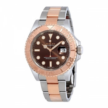 Rolex Yacht Master Rose Gold Steel Watch