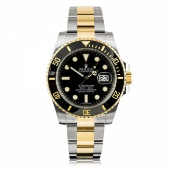Rolex Submariner Steel And Yellow Gold Black Dial Watch
