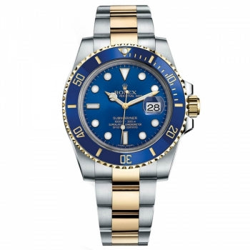 Rolex Submariner Steel And Yellow Gold Blue Dial Watch