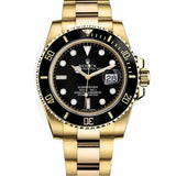 Rolex Submariner Full Gold Black Dial Watch