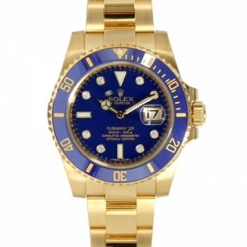 Rolex Submariner Full Gold Blue Dial Watch