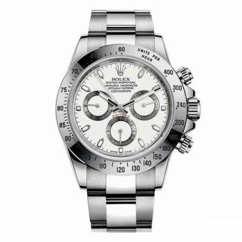 Rolex Daytona Silver White Dial Watch