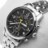 Tissot PRC 200 Silver Black Dial Watch