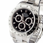 Rolex Perpetual Steel Black Dial Watch