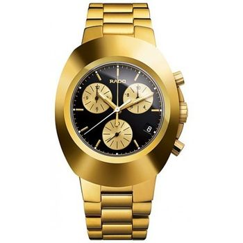 Rado Diastar Gold Black Dial Watch