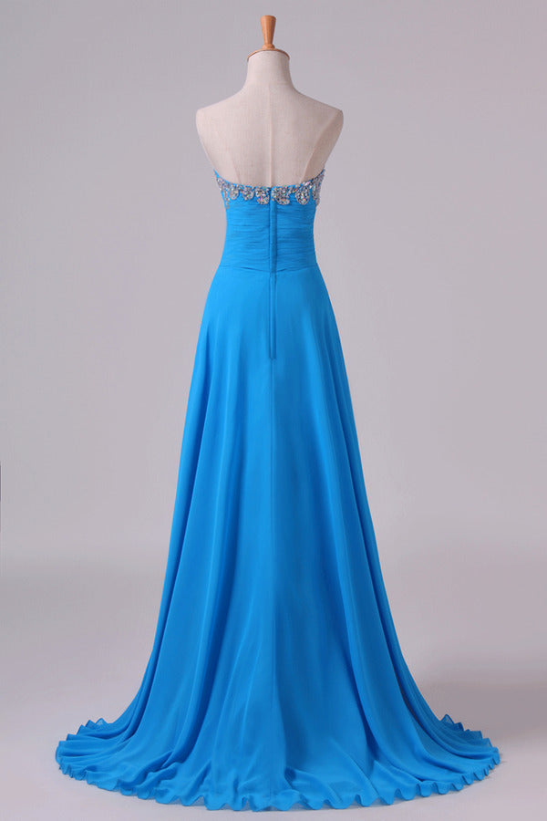 Sweetheart Beaded Neckline Prom Dress A Line With P4RSQT8F