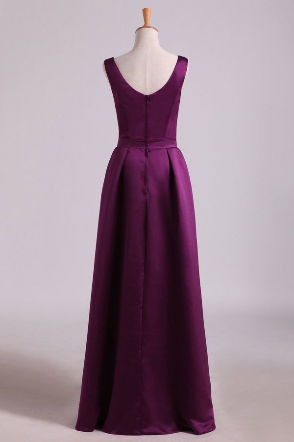 Bridesmaid Dresses A-Line Floor Length P6LMA49X