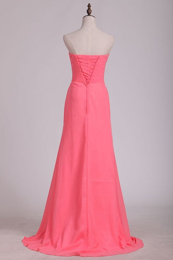 Sweetheart Fitted And Pleated Bodice Prom Dress A PBTYDDHZ