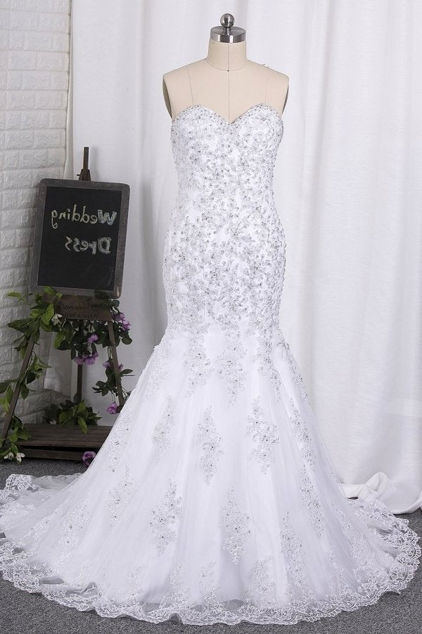 2020 Sweetheart Mermaid/Trumpet Wedding Dresses Court PT8E29MB