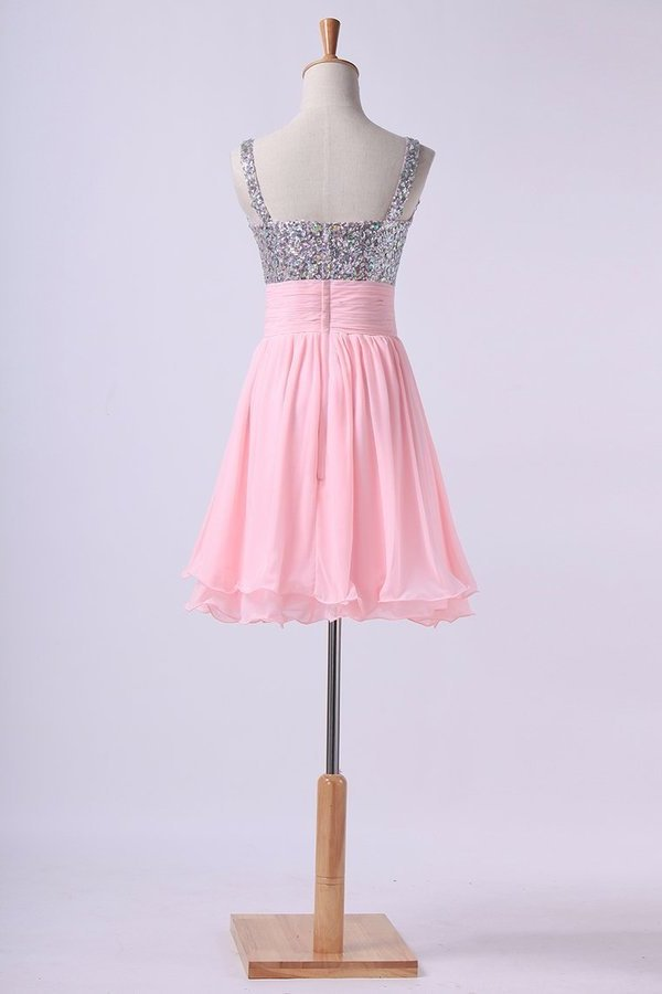 Homecoming Dresses Straps Chiffon Short With PN9CSKHL