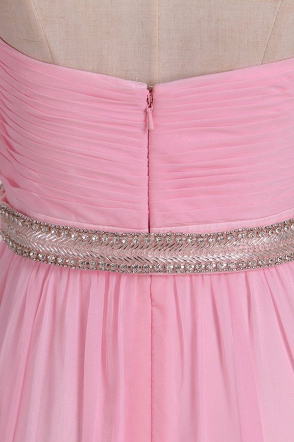 Bridesmaid Dresses A Line Sweetheart Pleated Bodice Beaded Waistline P459943X