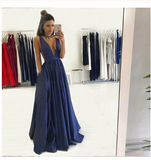Sexy Deep V Neckline Prom Dresses Graduation Party Dresses Formal Dress For Teens