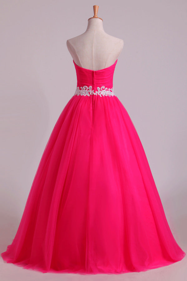 Sweetheart Ball Gown Floor Length Quinceanera Dresses PPCFK3NB