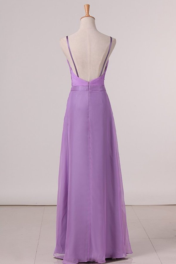 2020 Bridesmaid Dresses A Line Spaghetti Straps With Ruffles PDSLEG27