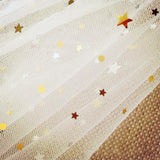Elegant Short Sequins Tulle Wedding Veils with Stars STG15580