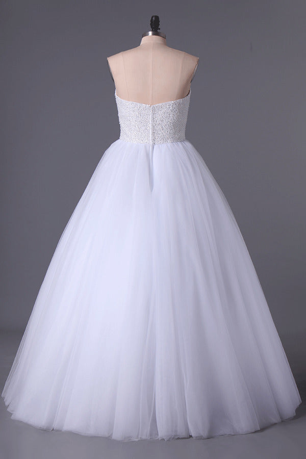 2020 Sweetheart Ball Gown Wedding Dresses Tulle Floor Length P1G2YZNL