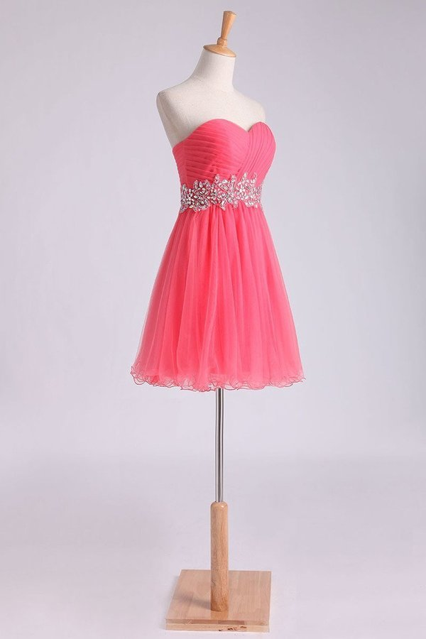 Homecoming Dress Sweetheart Pleated Bodice A Line Short/Mini PMYPDCLS