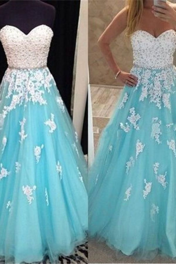 Sweetheart Prom Dresses A-Line Floor-Length PJHBSZBX