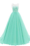 Women's Ruched Sleeveless Lace Long Prom Dresses Prom Gown Prom Dresses