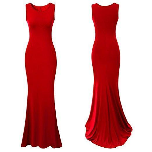 Royal Sleeveless Elegant Long Evening Dress Gowns