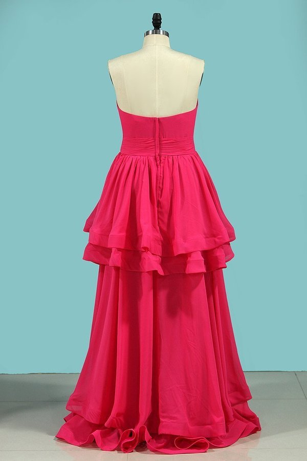 2020 A Line Sweetheart Prom Dresses Ruched PS85PXTX