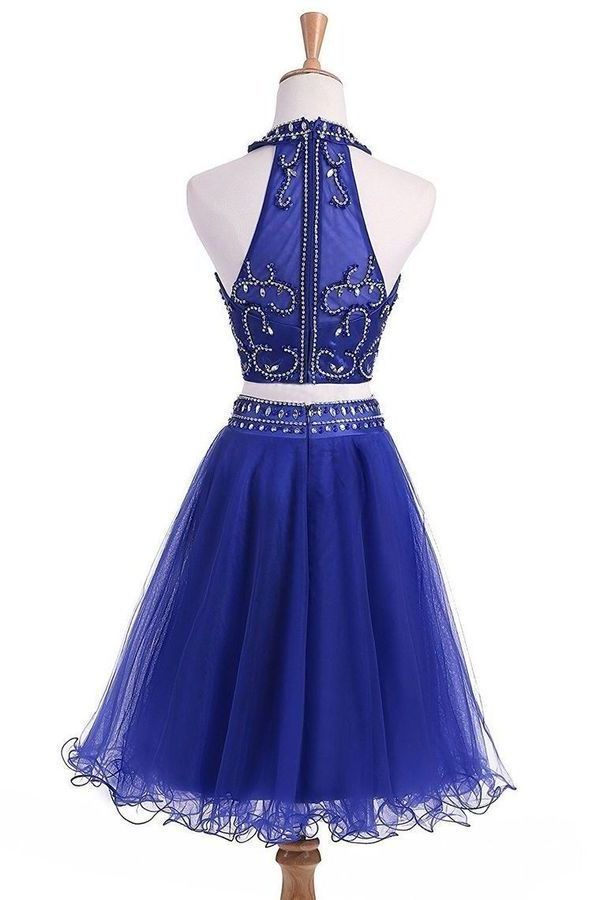 2020 A Line Scoop Two-Piece Beaded Bodice Homecoming P8M6NGDL