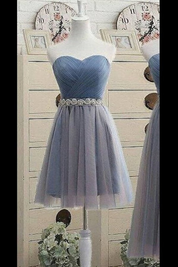 Simple Homecoming Dresses A-Line Sweetheart Tulle PH3E2YRL