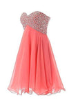 Short Mini Beaded Prom Homecoming Dresses