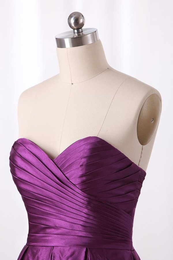2020 Bridesmaid Dress A Line Sweetheart Satin With P1T3HNDP