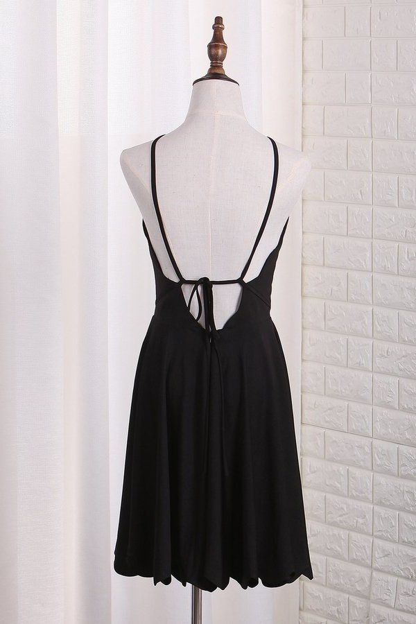 2020 A Line Spaghetti Straps Spandex Cocktail Dresses Short/Mini P3K83M46