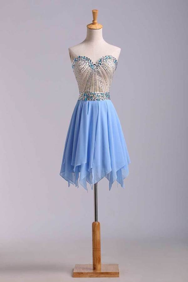 Stunning Homecoming Dresses Sweetheart A Line Short/Mini With Beads PQPBX8ZF