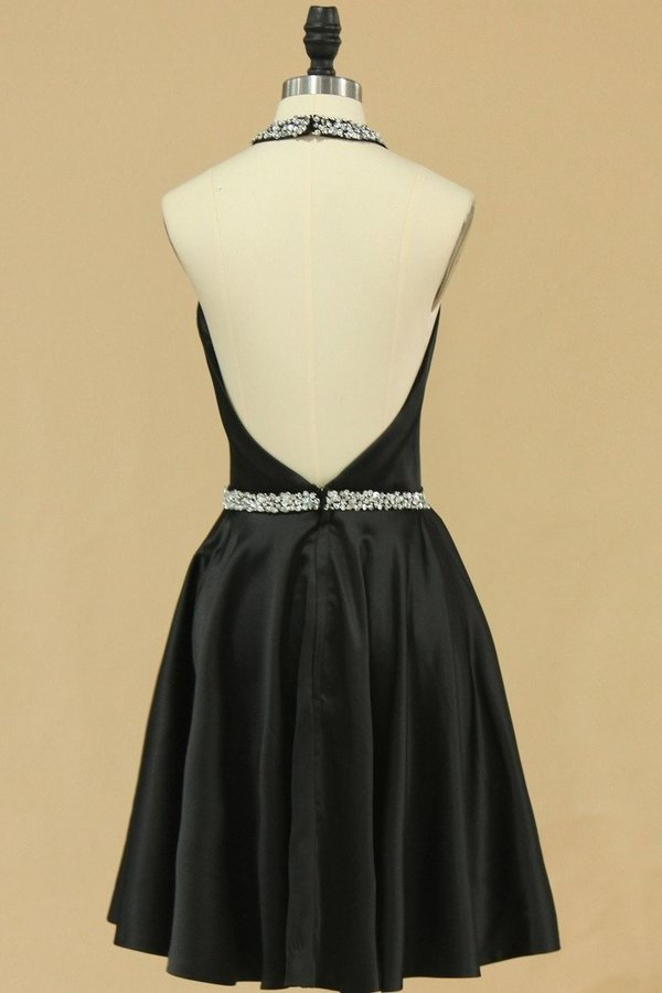 Halter Homecoming Dresses A Line Short/Mini PX258H7B