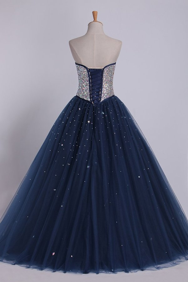 Bicolor Quinceanera Dresses Sweetheart Ball Gown Floor-Length Beaded P9JBJS1A
