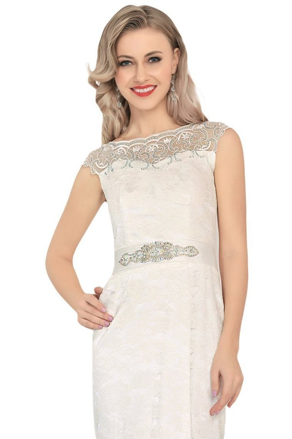 Boat Neck Prom Dress Mermaid Lace Sweep Train PE7SFCX2