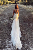 2020 Straps Mermaid Wedding Dresses Tulle With PCY95P6D