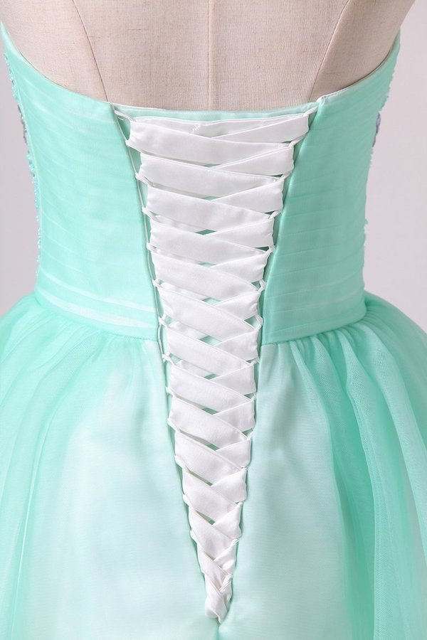 2020 A Line Sweetheart Homecoming Dresses Beaded Bodice P7CF8P5G