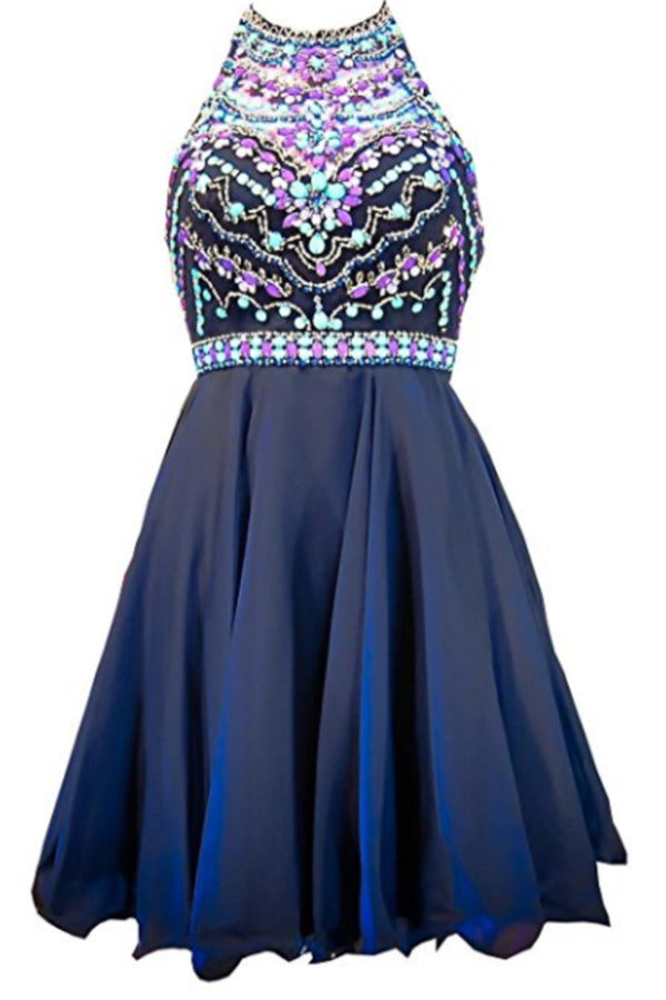 Homecoming Dresses A Line Scoop Beaded PEZGSNDB