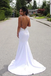 Spaghetti Straps Mermaid Wedding Dress With Appliques Sexy Backless Bridal STGPGZT9APS