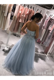 Sweatheart Embroidered Beads Tulle Ball Gown Prom STGPZBYPQH8