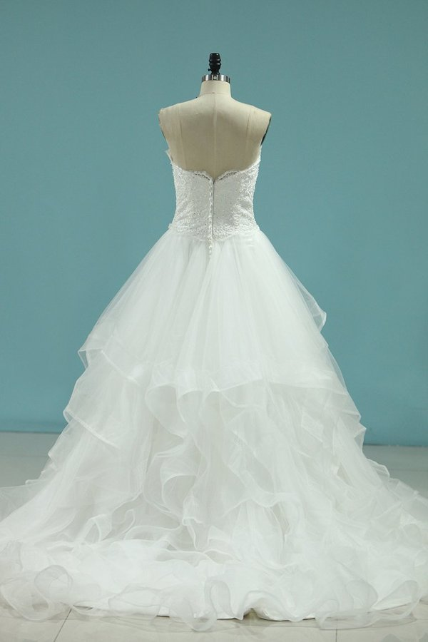 A Line Sweetheart Wedding Dresses With Applique And P8Y7Y8A5