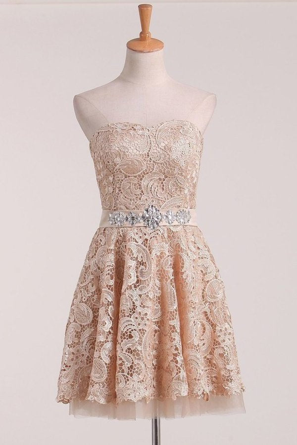 2020 New Arrival Sweetheart Homecoming Dresses A Line Lace PCHC2262