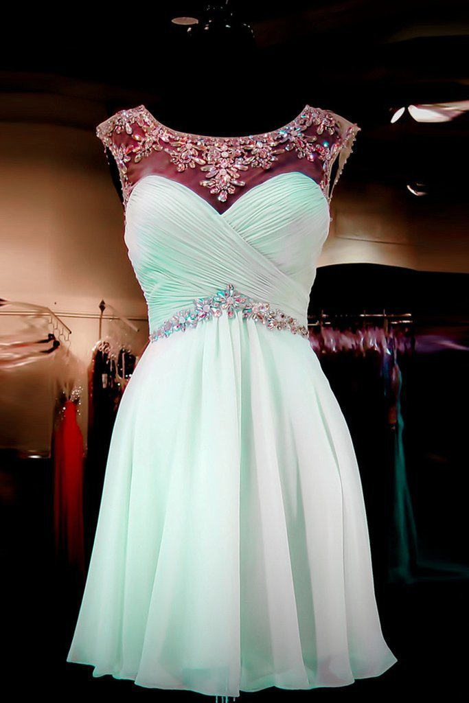 Top Sale Short/Mini Beading Short Homecoming Dress