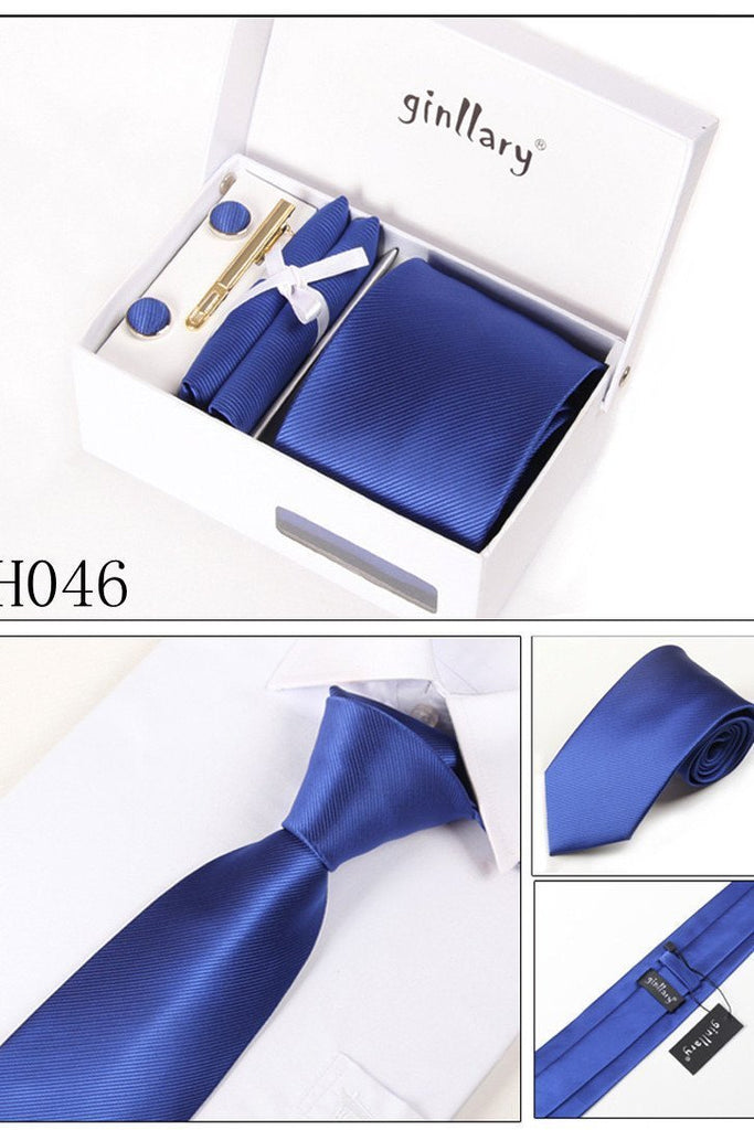 Dark Royal Blue Tie Set