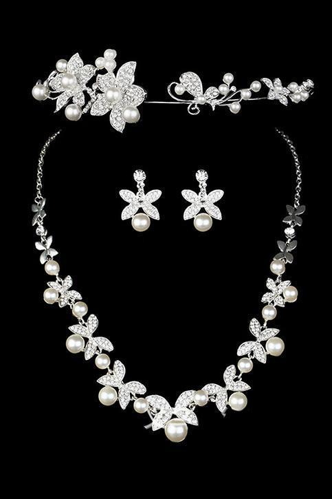 Pretty Alloy Ladies' Jewelry Sets