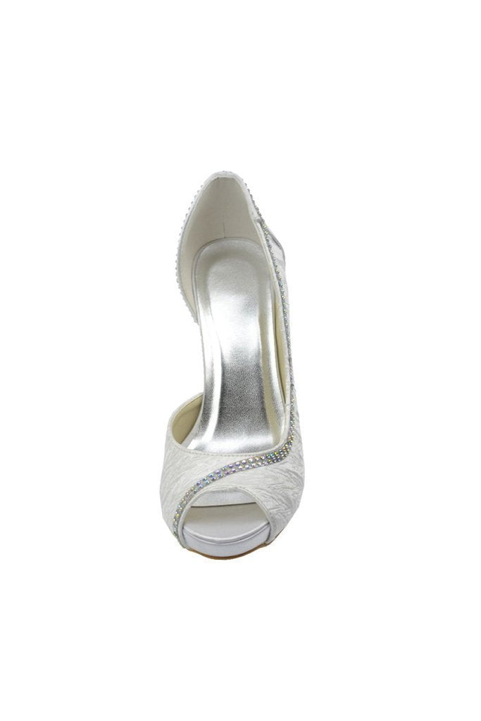 Fashion Comfy Simple Beading Handmade Wedding Shoes For Women