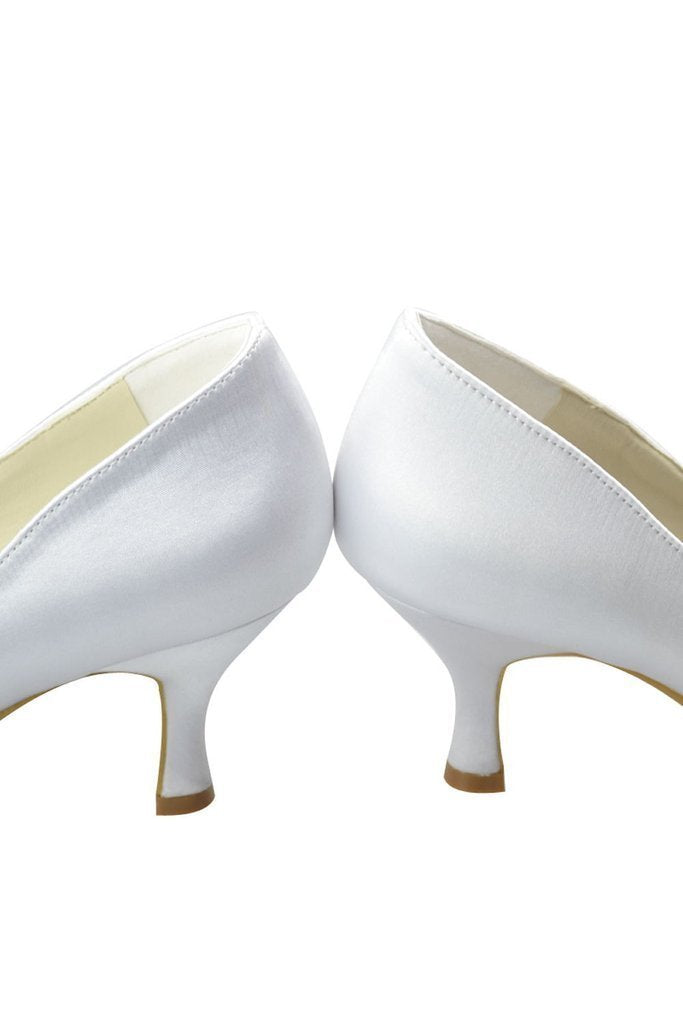 Beautiful White Peep Toe High Heel Handmade Comfy Wedding Shoes