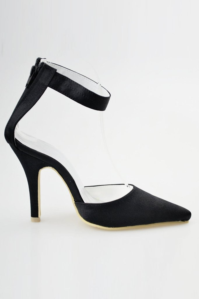 Comfortable Handmade Black Ankle Strap Simple Women Shoes For Prom