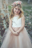 Stunning Sleeveless A Line Satin Bowknot Pink Flower Girl Dresses with Round Neck