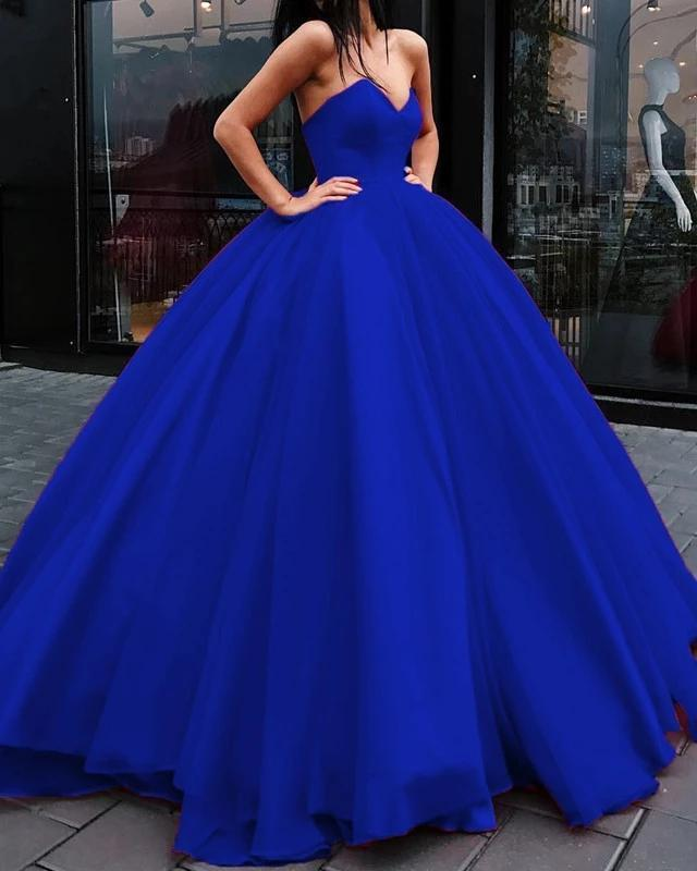 Unique Ball Gown Red Strapless Sweetheart Long Prom Dresses Quinceanera Dresses