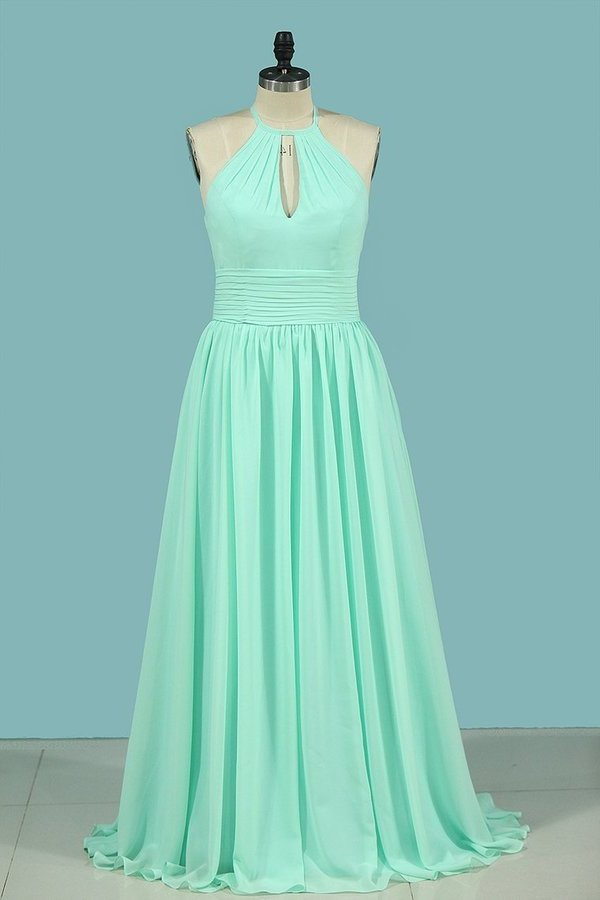 2020 Bridesmaid Dresses Scoop Chiffon With Ruffles PMK7J9AP